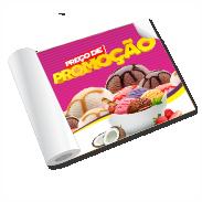 ADESIVO BRANCO Vinil  4x0 Brilho Corte reto